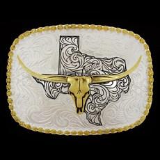 Fivela Cabeça Boi Longhorn Quadrada Cowboy Brand 28750