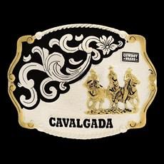 Fivela Cavalgada com Banho Prata e Dourado - Cowboy Brand 16406