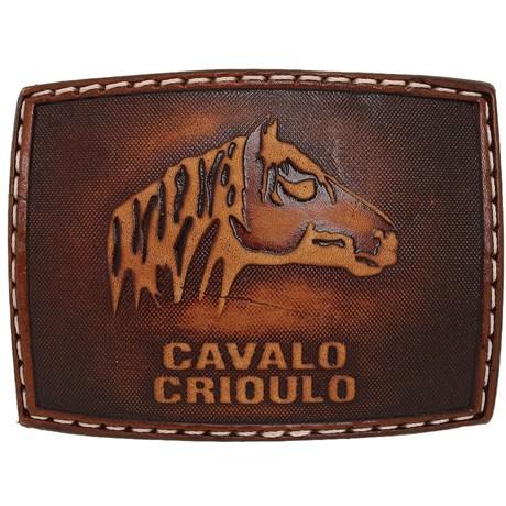 Fivela Cavalo Crioulo Revestida em Couro - Pyramid Country 18758