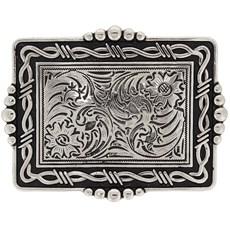 Fivela com Banho Prata Detalhe Arame Farpado - Paul Western 18215