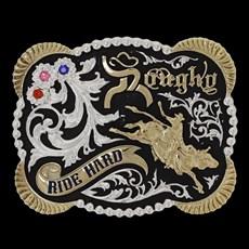 Fivela Country Montaria em Touro Ride Hard Rodeo West 21618