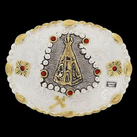 Fivela Country Nossa Senhora Aparecida Oval Cowboy Brand 20082