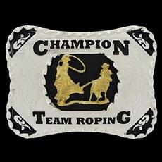 Fivela Country Team Roping Cowboy Brand 22904