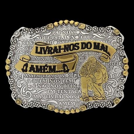 Fivela de Cowboy Oração Pai Nosso Sumetal 23900