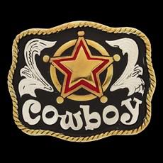 Fivela Infantil Cowboy com Fundo Negro - Master 14487