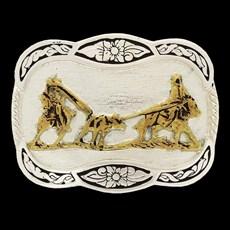 Fivela Infantil Laço em Dupla com Banho Dourado / Prata - Master 14489