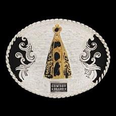 Fivela Infantil Nossa Senhora Aparecida com Banho Dourado e Prata - Cowboy Brand 12110