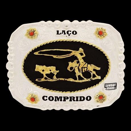Fivela Laço Comprido com Detalhes em Strass - Cowboy Brand 16403