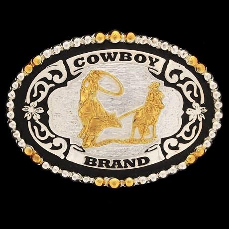 Fivela Laço em Dupla com Banho Dourado e Prata - Cowboy Brand