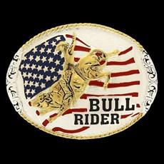 Fivela Master Bull Rider com Banho Dourado / Prata 14479