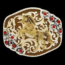 Fivela Master com Banho Dourado / Prata e Detalhes em Strass 14483