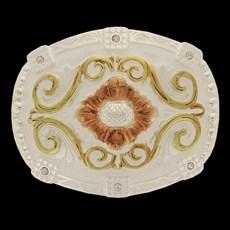 Fivela Master com Banho Dourado / Prata e Detalhes em Strass 14485