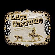 Fivela Master Laço Comprido com Banho Dourado e Prata 13598