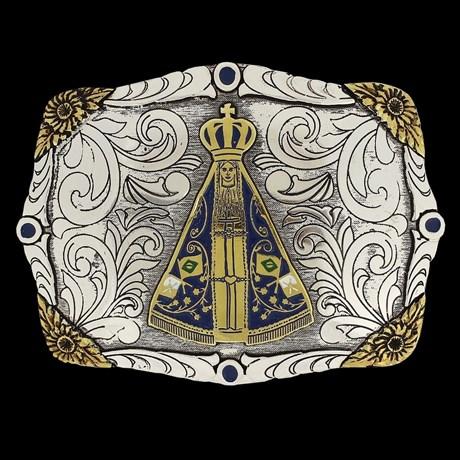 Fivela Master Nossa Senhora Aparecida com Banho Dourado/ Prata 14828