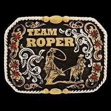 Fivela Master Premium Team Roper com Fundo Negro - 16691