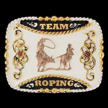 Fivela Master Premium Team Roping com Strass 12460