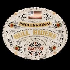 Fivela Master Professional Bull Rider com Banho Dourado / Prata 17585
