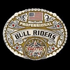 Fivela Master Professional Bull Rider com Banho Dourado / Prata 17586