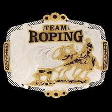 Fivela Master Team Roping com Banho Dourado / Prata 13791