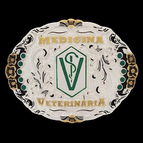 Fivela Medicina Veterinária Pelegrini Oval 22538