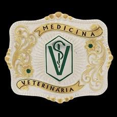 Fivela Medicina Veterinária Pelegrini Quadrada 22546