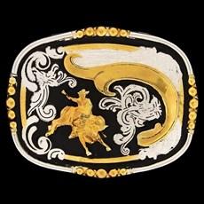 Fivela Montaria em Touro com Negro - Master 9966