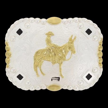 Fivela Mula Cowboy Brand Dourada e Prata 20085 - Rodeo West b1336be970d