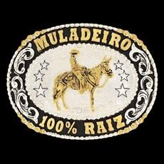 Fivela Muladeiro 100% Raiz Banho Dourado / Prata - Master 16464