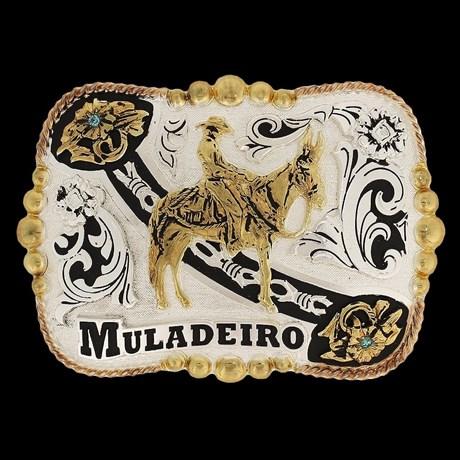 Fivela Muladeiro Banho Dourado e Prata - Master 16463