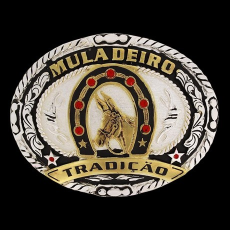 Fivela Muladeiro com Detalhes em Strass - Master 16461