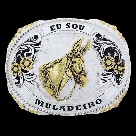 Fivela Muladeiro Detalhes Dourados Master 27877