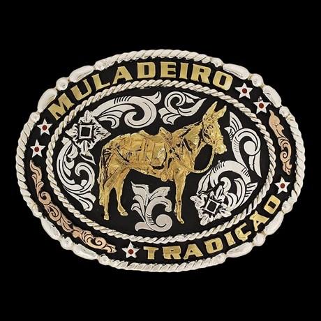 Fivela Muladeiro Fundo Negro - Master 16462
