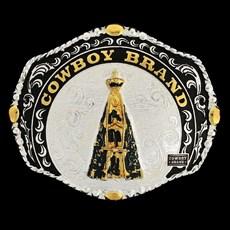 Fivela Nossa Senhora Aparecida com Banho Dourado e Prata - Cowboy Brand 8965