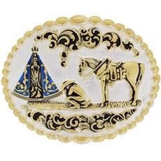Fivela Nossa Senhora Aparecida com Banho Dourado e Prata - Paul Western 18209