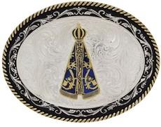 Fivela Nossa Senhora Aparecida com Banho Dourado e Prata - Paul Western 18213