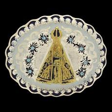 Fivela Nossa Senhora Aparecida com Detalhes em Strass - Master 14486