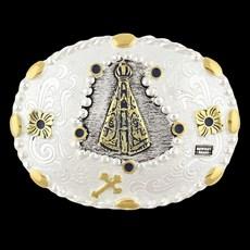 Fivela Nossa Senhora Aparecida Oval Cowboy Brand 26489