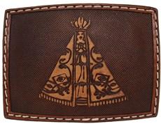 Fivela Nossa Senhora Aparecida Revestida em Couro - Pyramid Country 18759
