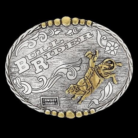 Fivela Oval Cowboy Brand Montaria em Touro 20435
