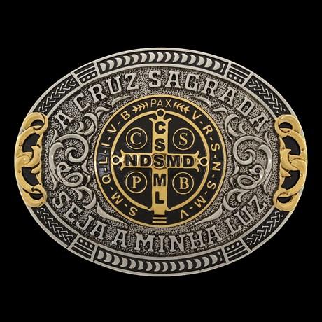 Fivela Oval Medalha de São Bento Sumetal 28713
