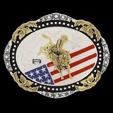 Fivela Oval Montaria em Touro Cowboy Brand 20083