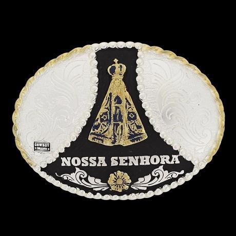 Fivela Oval Nossa Senhora Aparecida Cowboy Brand 20081