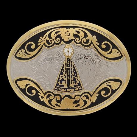 Fivela Oval Nossa Senhora Aparecida Pelegrini 22562