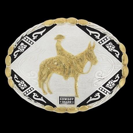 Fivela para Cinto Cowboy Brand Muladeiro 20445