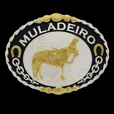 Fivela para Cinto Cowboy Brand Muladeiro 22907