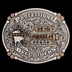 Fivela PBR Gold Series 3D Get Tough com Strass 15780