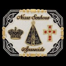 Fivela Quadrada Nossa Senhora Aparecida Pelegrini 22557