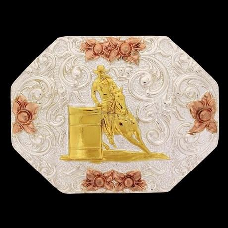 Fivela Sumetal  3 Tambores com banho Dourado e Prata 17284