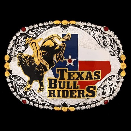 Fivela Sumetal Texas Bull Riders com Strass 10667