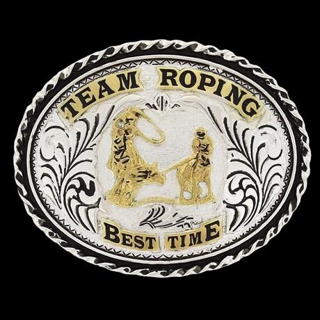 Fivela Team Roping Best Time - Master 18555